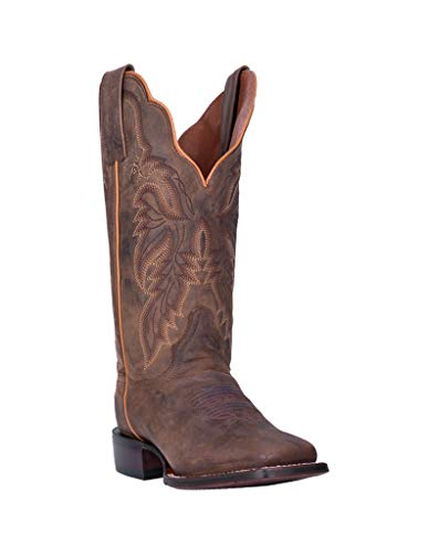 Dan Post Women's Western Boot Wide Square Toe Brown 9 M
