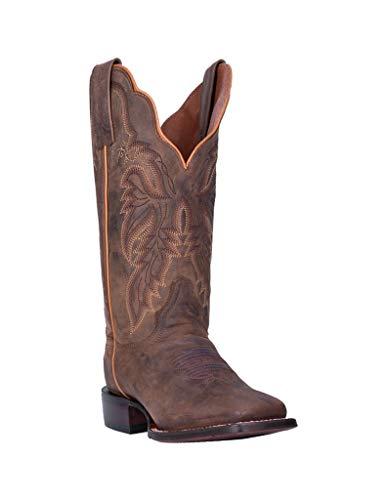 Dan Post Women's Western Boot Wide Square Toe Brown 9.5 M