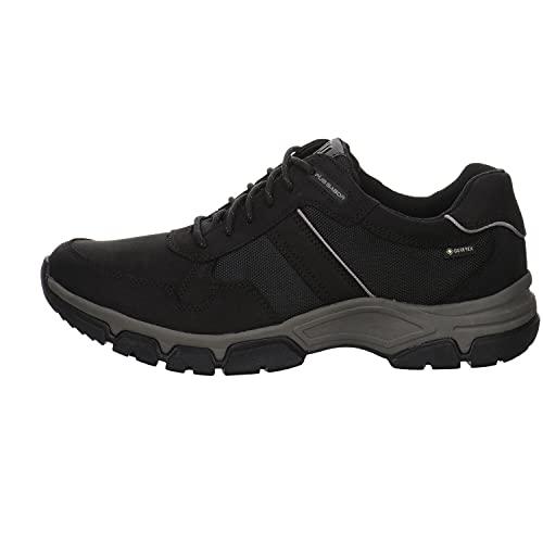 Gabor Pius - Zapatillas bajas para hombre, impermeables, plantilla intercambiable, piel certificada, negro, 44 EU
