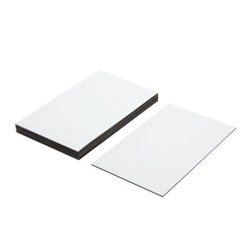 Magneet Expert Flexibele Magnetische Etiketten met Glans Wit Droog Veeg Oppervlak (100 x 60 x 0.76mm) (Pack van 10)
