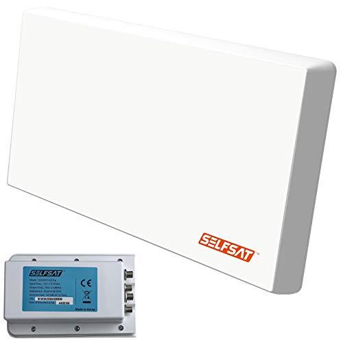 SELFSAT H22D4+ UHD 4K Quad mit Multifunktionshalterung