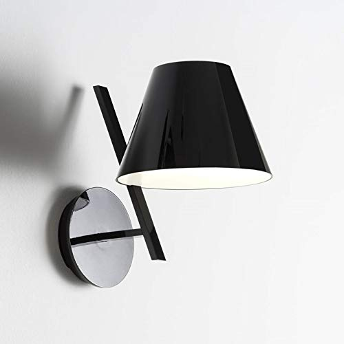 LA PETITE-Applique da parete in metallo, altezza 25,8 cm, colore: nero lucido Artemide, design da Quaglio Simonelli