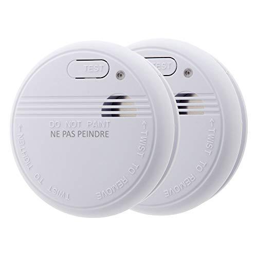 Lot de 2x détecteurs de fumée NF - Garantie 5 ans -...