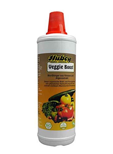 Hubey Veggie Boost - 1 L Flasche - Algen Vinasse - organisch - Flüssigdünger - biologischer Naturdünger