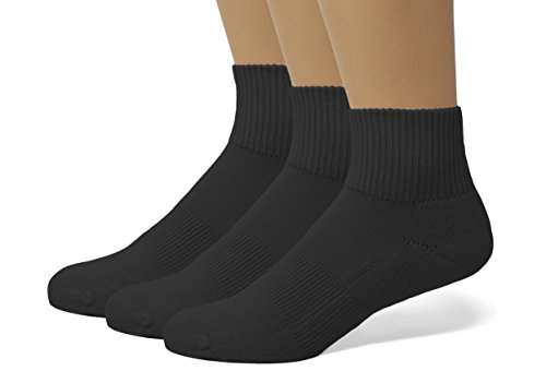 EMEM Apparel Women's Plus Size Queen Arch Support Athletic Running Hosiery Ankle Quarter Socks with Cushioned Sole Black 10-13