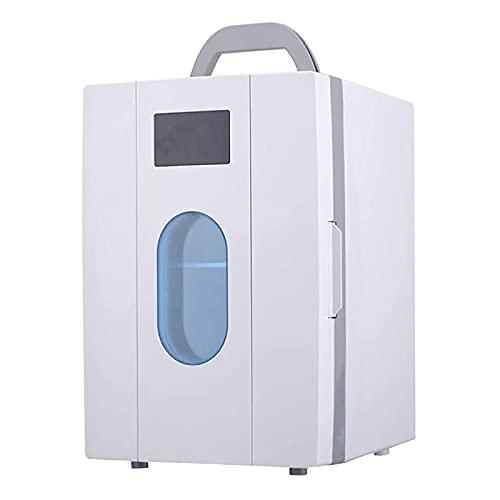 Portátil Pequeño Refrigerador 10L para Apartamento Casa Hoteles Dormitorio Nevera Coche Frigorífico Mini Bar Una Puertasilencioso Oficina Neveras Viajes Congelador