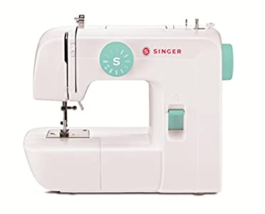 Singer | Start 1234 Portable Sewing Machine with 6 Built-in Stitches – Built-in 4-Step Buttonhole, White/Teal and Free Online Owner's Class Video