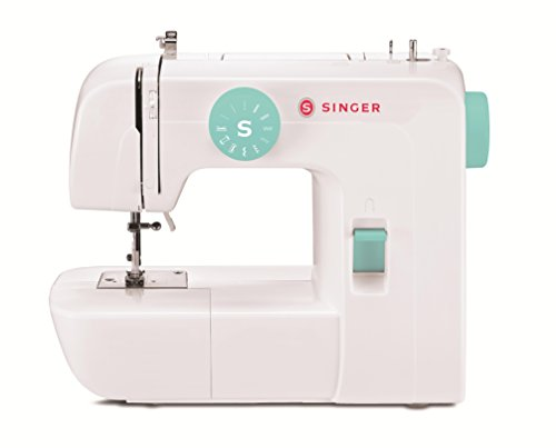 Singer | Start 1234 Portable Sewing Machine with 6 Built-in Stitches – Built-in 4-Step Buttonhole, White/Teal and Free Online Owner