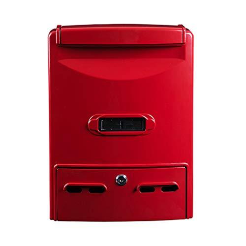 ZhuFengshop Mailbox Locking Wall Mount Mailbox, brievenbus, Postbus Rood Appartement, Tuin