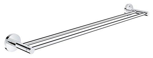 GROHE Essentials Badaccessoires (Doppel-Badetuchhalter, verdeckte Befestigung, 600 mm) 40802001