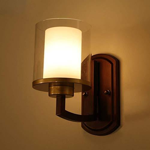 HYY-YY Sombra de la pared china moderna minimalista de cristal retro de la lámpara de pared, lámpara de la sala de estar dormitorio de la lámpara lámpara de cabecera del pasillo luces Restaurante Vest