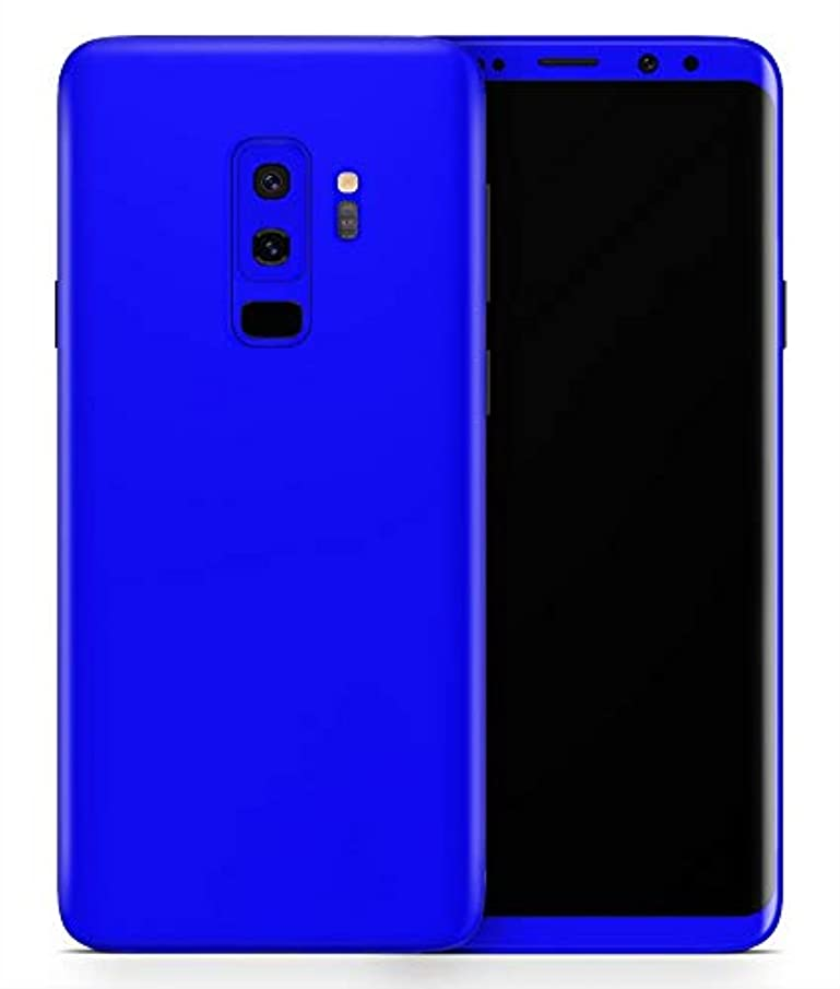 Solid Royal Blue - Design Skinz Vinyl Decal Wrap Cover for Samsung Galaxy S9 Plus 2-Pack Bundle! Full-Body + Back Glass