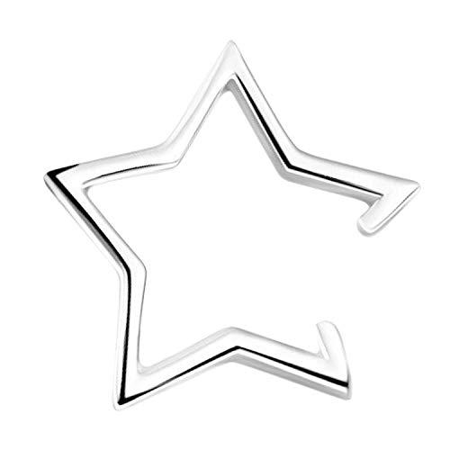 Finto piercing a forma di stella Five Pointed Star e Argento, colore: argento, cod. 71466620