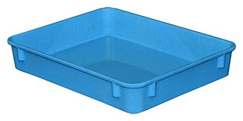 "Toteline 9301085268 Nesting Container, Glass Fiber Reinforce, Plastic Composite, 12.38"" x 9.75"" x 2.13"", Blue"