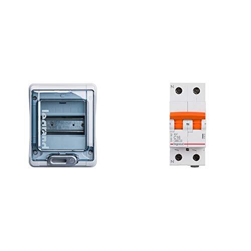 Legrand 601996E Caja Modular Estanca + 419926E Interruptor automático magnetotermico