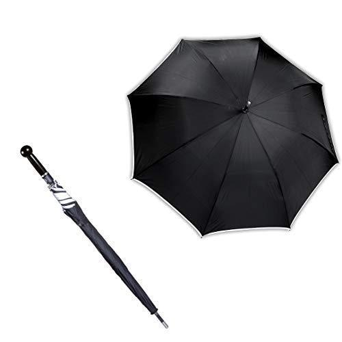 Sicherheitsschirm | Großer XXL Golf Regenschirm | Stockschirm 103cm Lang | Regenschutz, Gehhilfe & Selbstverteidigung | 2 gratis Zugaben: Gummikappe und Videokurs