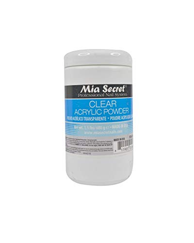 Mia Secret Acrylic Nail Powder, Clear, 24 Ounce