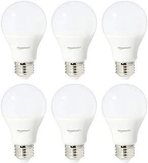 AmazonBasics 60 Watt Equivalent, Daylight, Dimmable, A19 LED Light Bulb   6-Pack