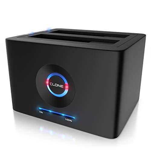 CSL - USB 3.2 Gen 1 Festplatten Dockingstation - Offline Klonfunktion - Festplatten Docking Station - für 2,5