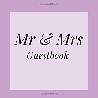 Mr & Mrs Guestbook: Purple Lilac Lavender Event Signing Guest Book - Visitor Message w/ Photo Space Gift Log Tracker Recorder Organizer Address ... for Special Memories/Party Reception Table