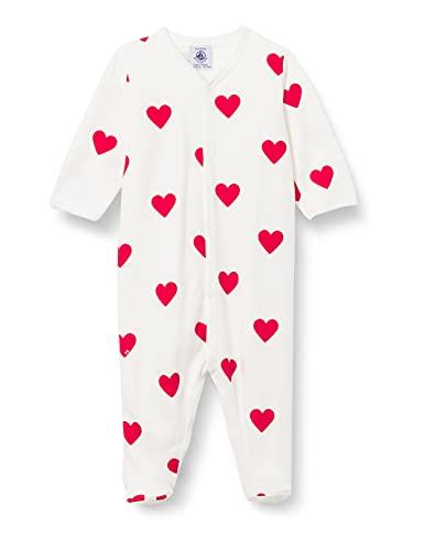 Petit Bateau A00BT01 Nightgown, Marshmallow/Terkuit, 12 Mois Baby-Girls
