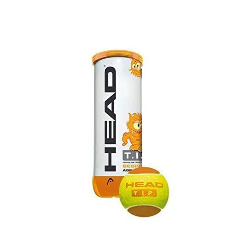 HEAD Unisex– Erwachsene Tennisbälle TIP 3er Stage 1, Gelb, Einheitsgröße