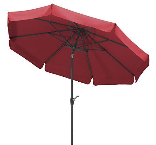 Schneider Parasol Orlando, Rouge, env. 270 cm Ø, en 8 Parties, Rond, 270x270x250 cm