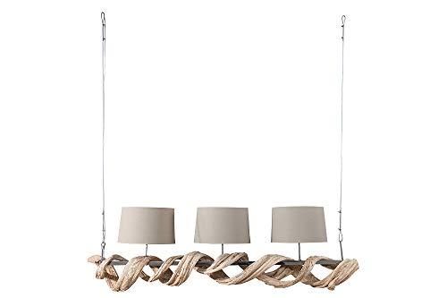 DuNord Design - Lámpara de techo (madera reciclada, 165 cm)