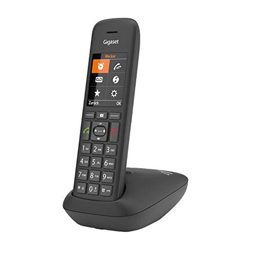 Gigaset C575, Schnurloses Telefon, großes Farbdisplay mit aktueller Benutzeroberfläche, Adressbuch für 200 Kontakte, Jumbo-Modus - Schutz vor unerwünschen Anrufen, schwarz