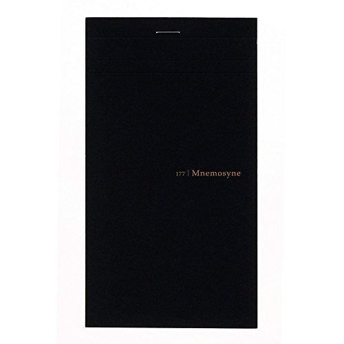 Maruman MNEMOSYNE Notizbuch, 18 x 10 cm (lang), doppelte Perforation, 5 mm kariert, 50 Blatt (N177A)
