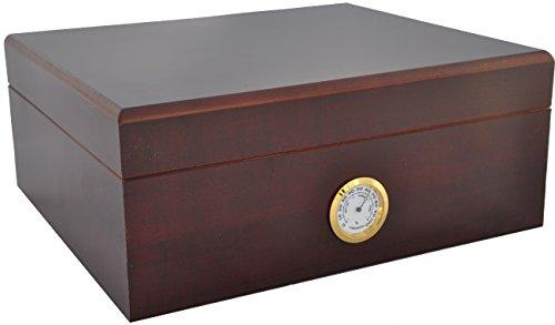 Humidor für 25 Zigarren INKLUSIVE ELEKTRONISCHEN PRÄZISIONS BEFEUCHTER HYDROCASE Made IN Germany