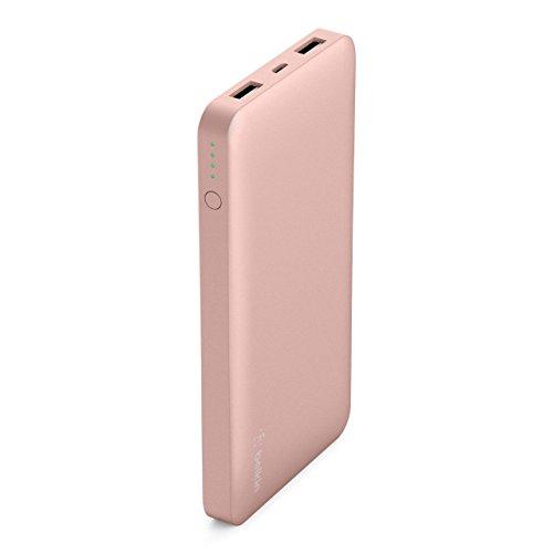 Belkin Pocket Power Bank 10000 mAh Externer Akku (zertifizierte Sicherheit, für iPhone 11, 11 Pro/Pro Max X, XS, XS Max, XR, SE, 8, 8+, 7, SE, iPad, Samsung Galaxy S10, S10+, S10e) roségold