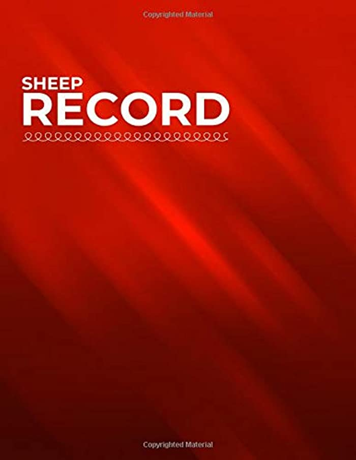 """Sheep Record: Lambing Planning Farming Essentials Spreadsheet record book log for Breeding Lamb, Birth, Health & Death Tracker 8.5""""x11"""" with 160 Pages. (Sheep Inventory Logbook)"""