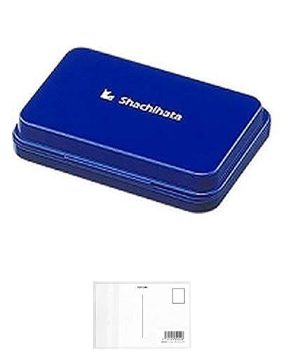 シヤチハタ スタンプ台 HGN-1-B 小形 藍 + 画材屋ドットコム ポストカードA
