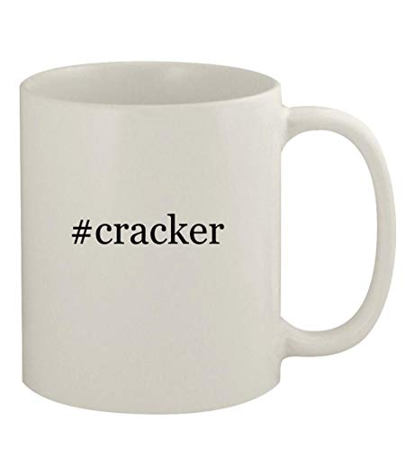 #cracker - 11oz Ceramic White Coffee Mug, White