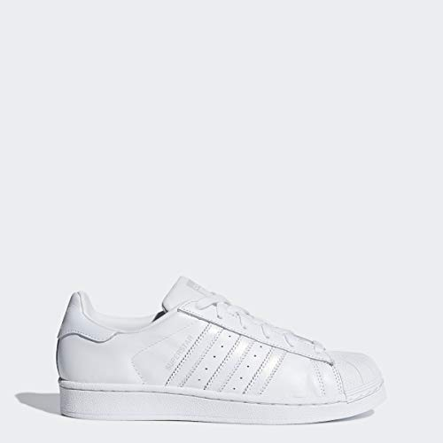 adidas Originals Damen Superstar Turnschuh, Weiß/Weiß/Grau, 42 EU