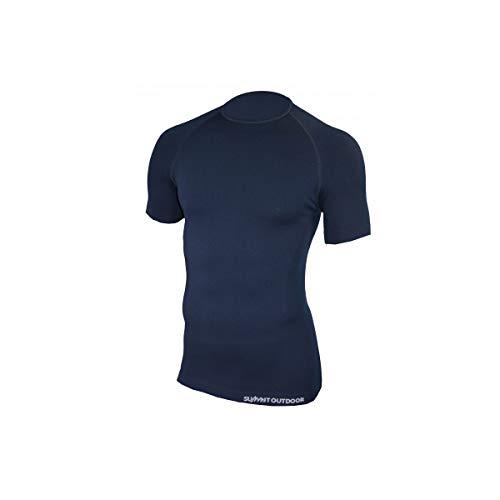 SUMMIT OUTDOOR Tee-Shirt 1ère Peau Technical Line Manches Courtes Bleu Marine