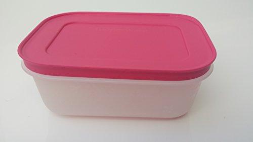 Tupperware Gefrierbehälter eingefrieren orange pink Behälter mit Deckel auslaufsicher Kühltruhe Gefriertruhe (pink)