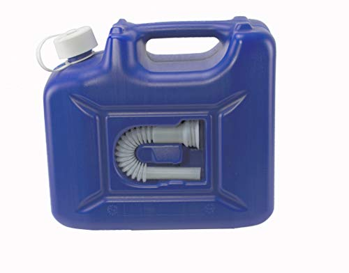 AdBlue Kanister 10 L von Hünersdorff - Ideal für AdBlue Zusatz und auch als Mehrwegkanister verwendbar - Ideal als Reservekanister für Diesel und Benzin - Mit Auslaufrohr und Sicherheitsverschraubung