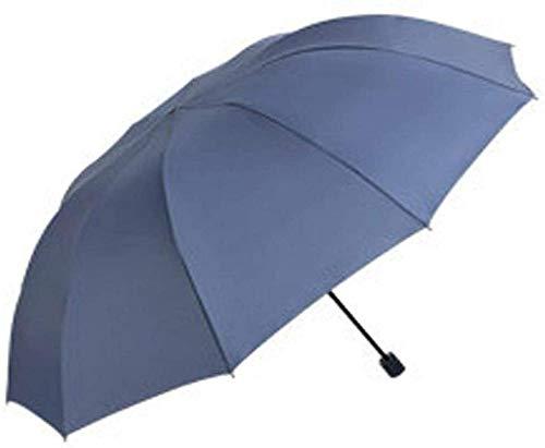 ZJJJD Klappschirm Übergroße Winddichte Sonnencreme Golf Einfarbig Geschenk Werbung Regenschirm 77 * 124 * 152cm-b Regenschirm Sturmsicher Lightweight Wunderschönen...