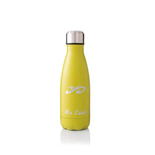 MrLado Borraccia Termica Acciaio Bottiglia Acqua Alluminio Acciaio Inox per Sport e Palestra Borraccia Acciao Bambini Water Bottle Thermos Ideale per Mantenere Fresche Le Bevande (Verde Oliva 350ml)