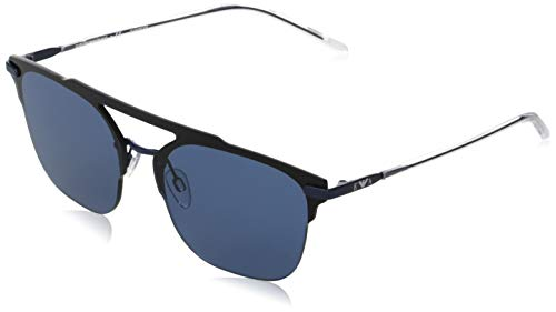 Emporio Armani 0EA2090 Occhiali, Black/Blue, 45/14/145 Unisex-Adulto