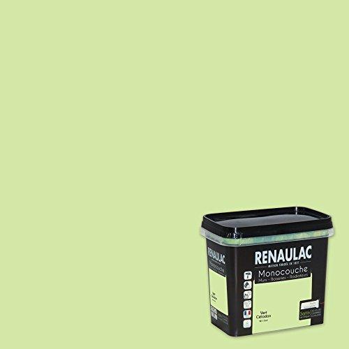 Renaulac Peinture monocouche multisupports Vert Céladon Satin 0,75L - 8m²