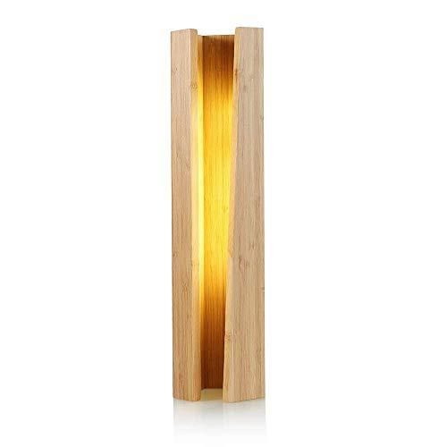 GIOAMH Lámpara de mesa pentagonal de madera, lámpara de noche Led para dormitorio, Hotel, restaurante, bambú, decoración creativa para el hogar, pequeña luz nocturna