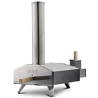 Uuni 3 Portable Wood Pellet Pizza Oven W/Stone and Peel, Stainless Steel
