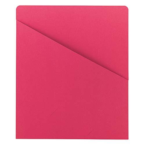 Smead Organized Up Slash File Jacket, Letter Size, Red, 25 per Pack (75433)