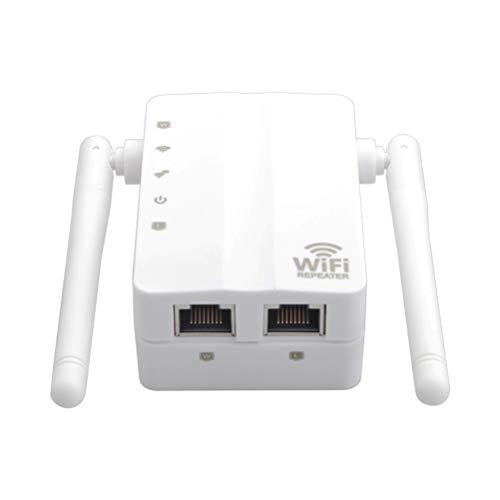 MC.PIG Wireless WiFi Extender-300Mbps WiFi Extender Universal 2.4Ghz 300Mbit / S Internet Booster Soporte Ap/Modo repetidor y función WPS para Cubrir una Gama más Amplia de WiFi (Color : White)