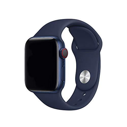 Antidote Correa para Apple Watch 42 mm 44 mm, banda de silicona para iWatch Serie 6/5/4/3/2/1 (azul noche)