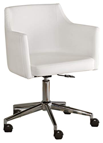 Signature Design by Ashley – Baraga Home Office Swivel Desk Chair – White