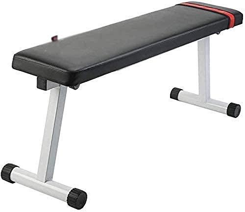 mjj Banco de pesas ajustable estándar banco de pesas banco de pesas banco de pesas para interiores multifuncionales aparatos de levantamiento de pesas, respaldo para abdominales